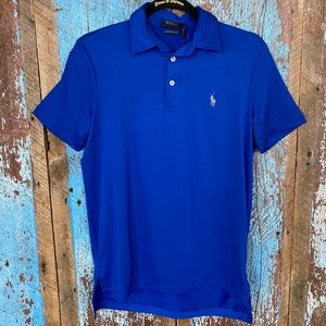 Polo Ralph Lauren Performance Blue Polo Top